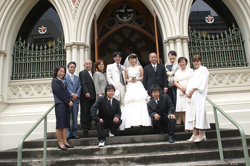 恵那さんと勝也さんの結婚式